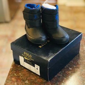 Ralph Lauren Black snow boots size 4